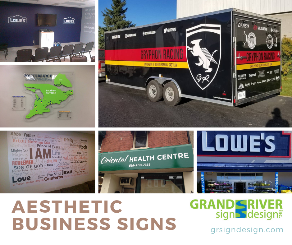 Aesthetic business signs FB
