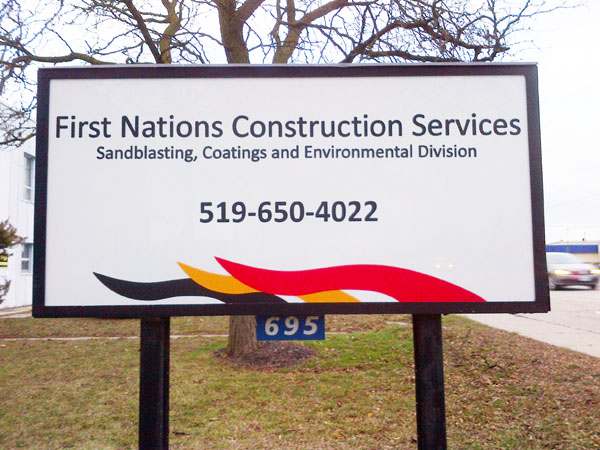 First Nations construction new sign