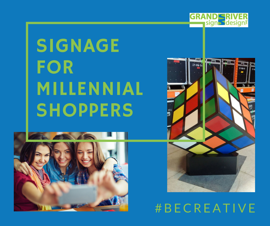 SIGNAGE FOR MILLENNIAL SHOPPERS